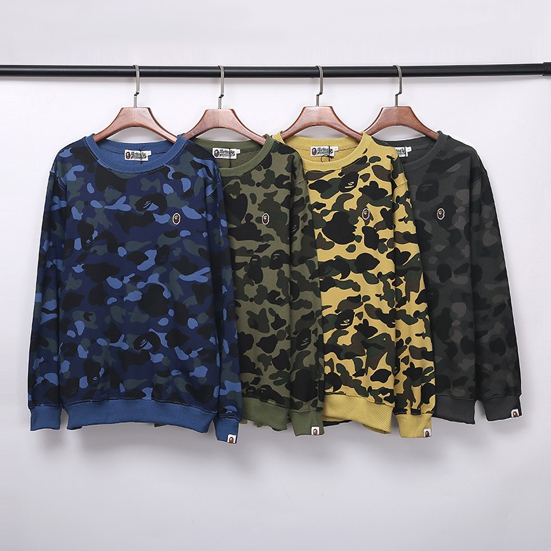 Bape Classic Hoodie 4 Colors Blue Army Green Yellow Black Grey M~2XL 8B173XC240