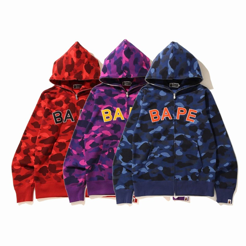 Bape Hoodie 3 Colors Red Purple Blue M-3XL B51XC827