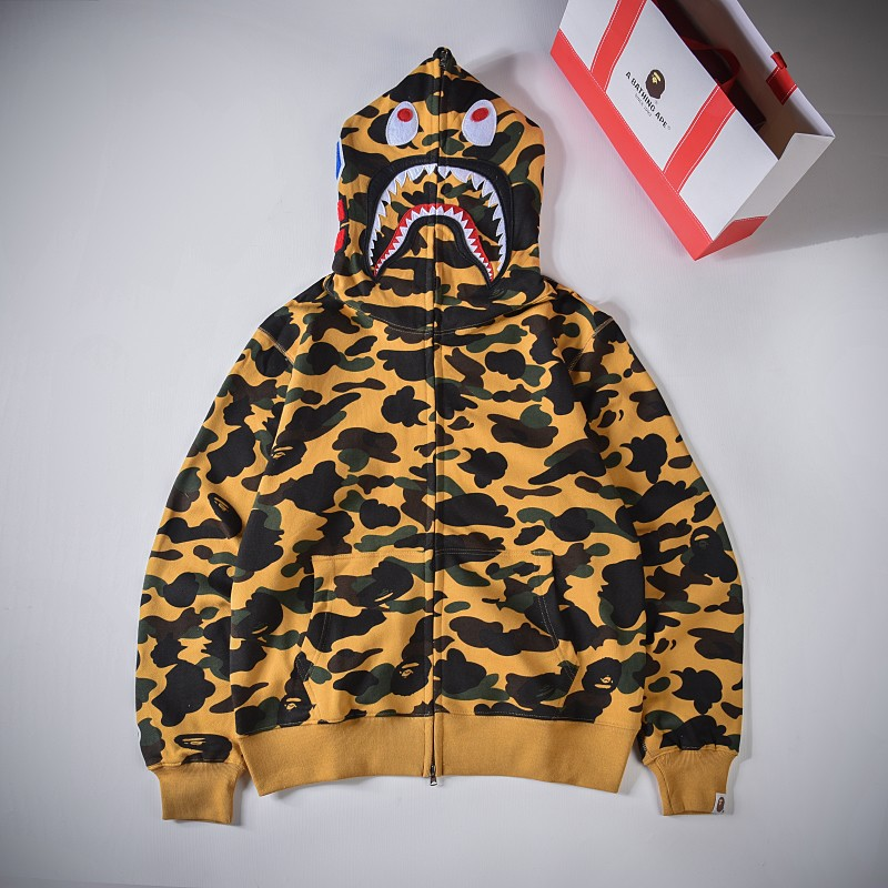 Bape Hoodie 5 Colors Purple Yellow Green Blue Red S-2XL XX121