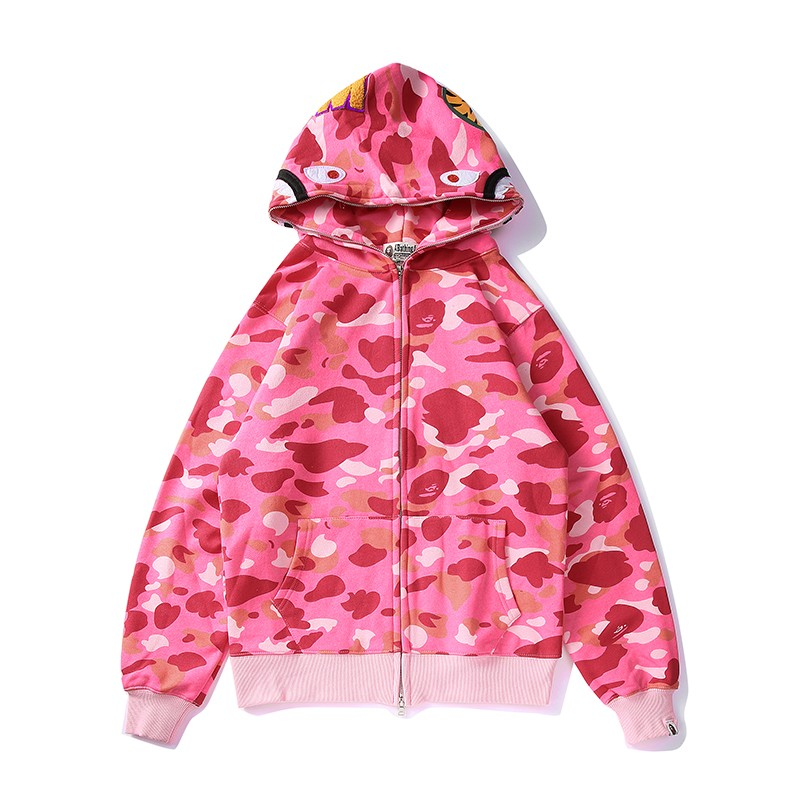 Bape Hoodie 6 Colors Purple Black Pink Red Blue Green M-3XL B51XC801