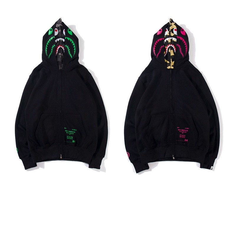 Undefeated x Bape Union Hoodie 2 Colors Green Purple M~2XL B15XC6368