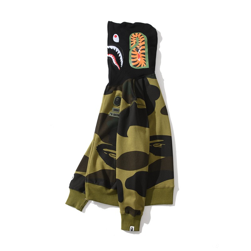 Undefeated x Bape Union Hoodie 2 Colors Green Yellow M~2XL B15XC6622